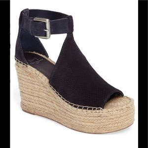 Marc Fisher Annie Perforated Espadrille Wedge